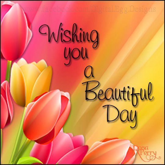Wishing You A Beautiful Day Good Day Wishes Day Wishes Good Morning