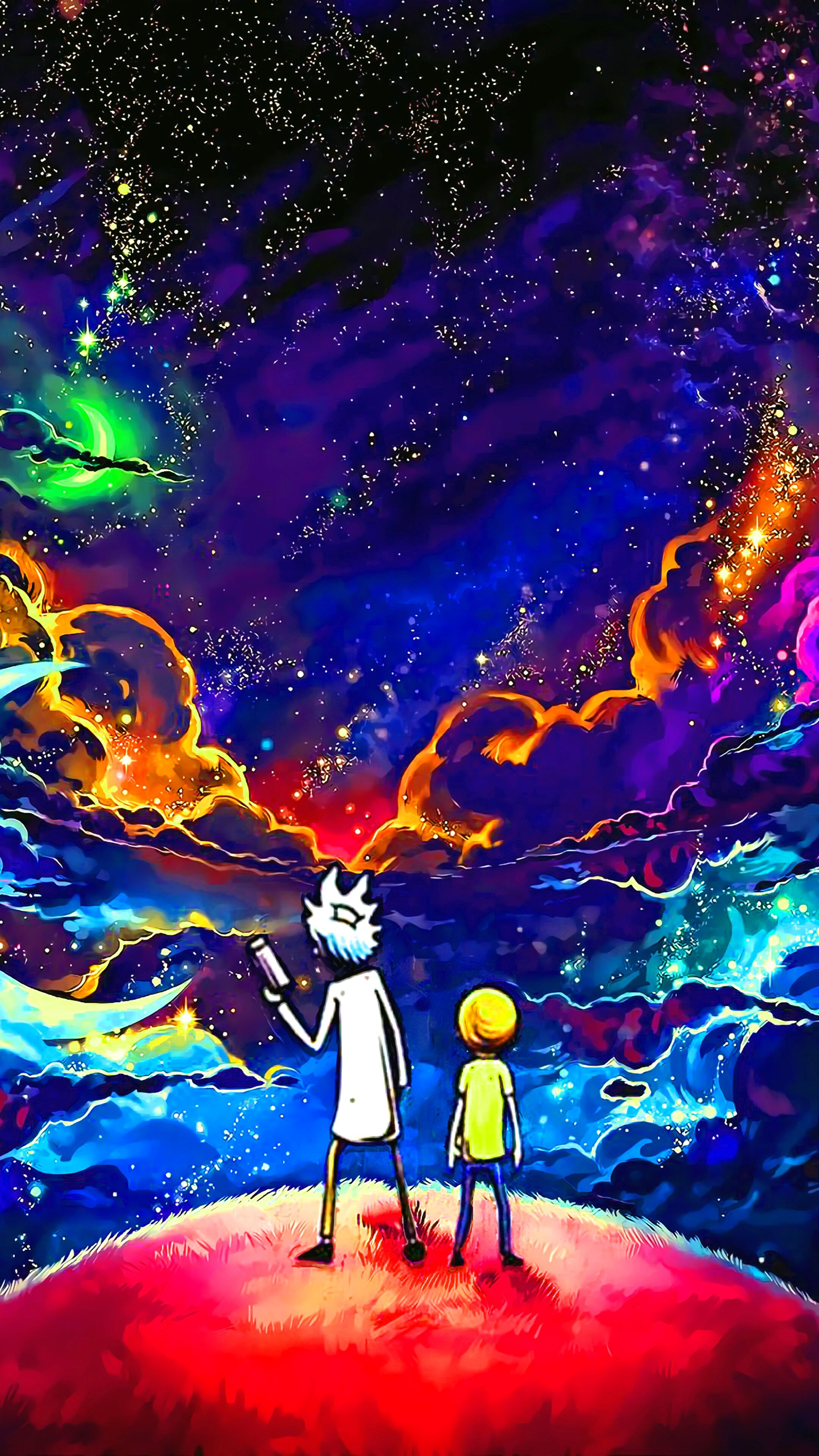 Rick and morty wallpaper iphone