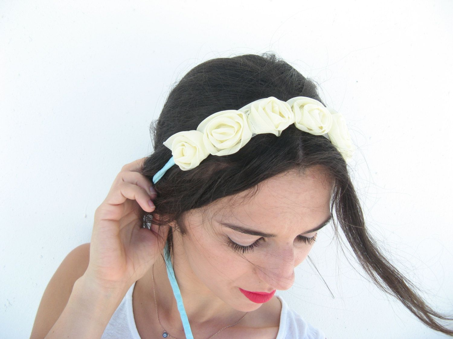 Flower Crown Boho Floral Headpiece Floeral Headband Bohemian