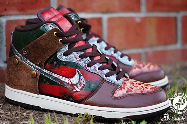 save off 1053c 03a78 diversitile nightmare dunk (freddy krueger). Normally I hate skateshoes,  but these are just amazing!