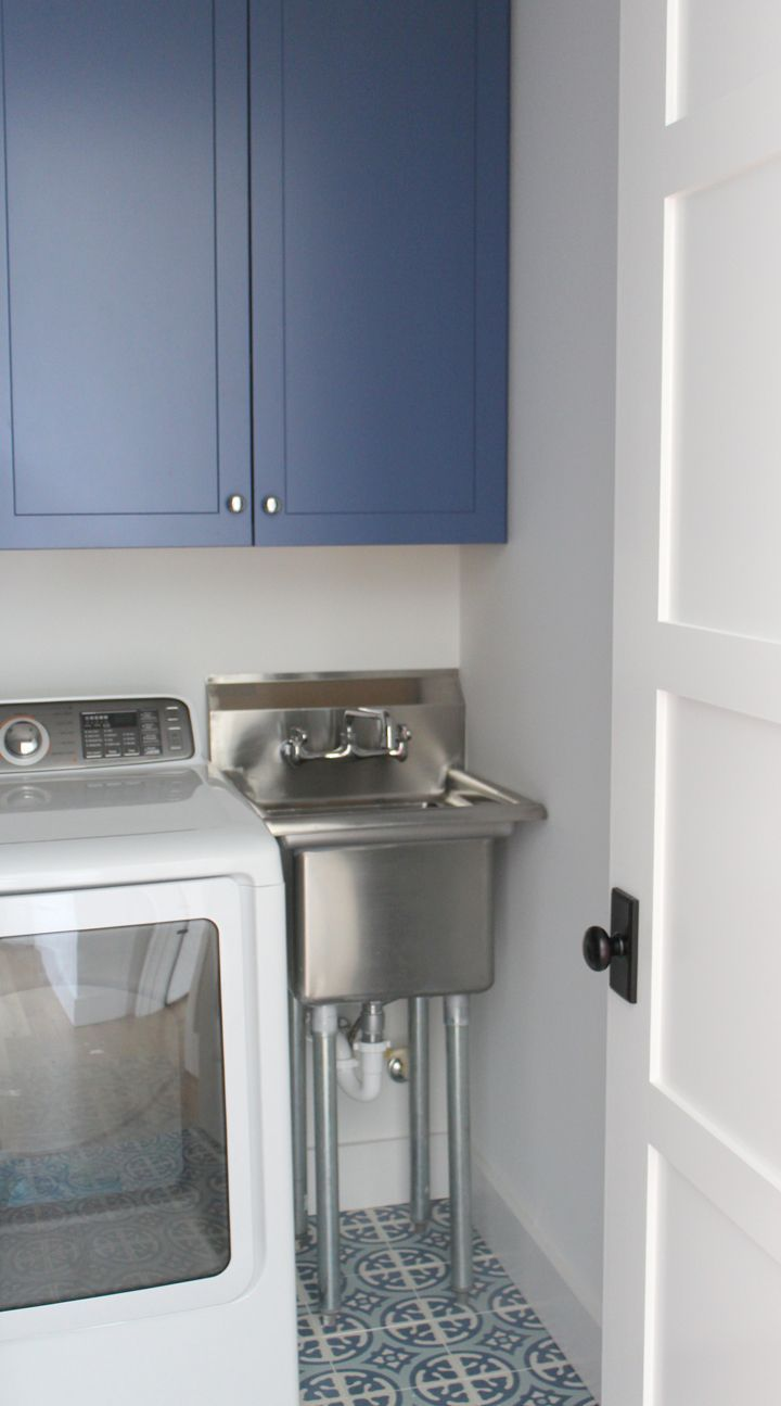 If your laundry room is on the smaller size you know that utilizing every inch of space is important first make a point to keep the clutter and piles of