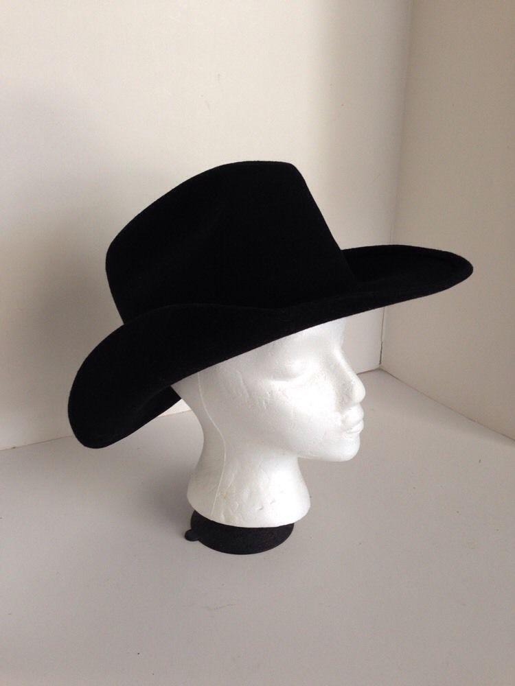 2b59de7afad5b Dorfman Pacific Western Black Cowboy Hat Medium M Wool Felt  DorfmanPacific   CowboyWestern