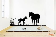 Horse Wall Decal. $85.00, via Etsy.