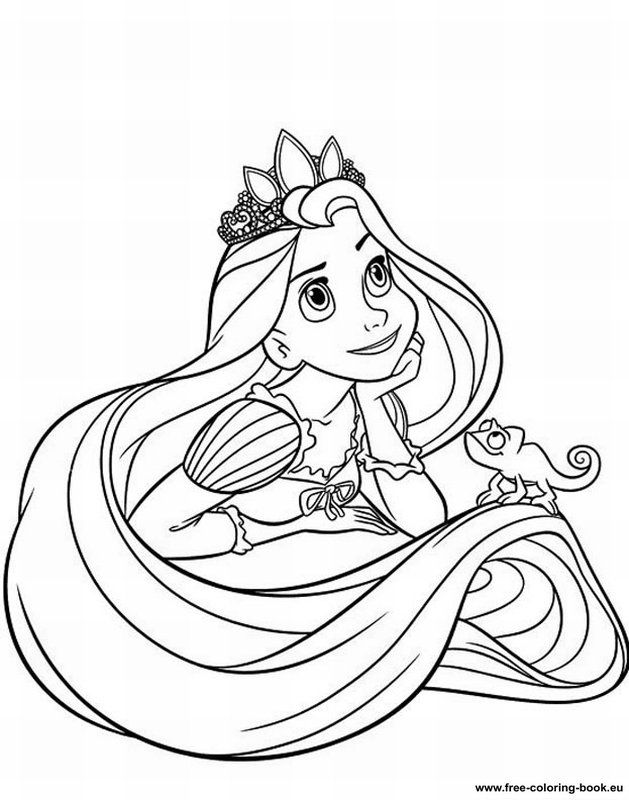 colouring sheets disney princess tangled rapunzel printable free