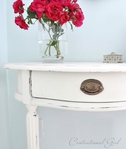 Table painted with Chalk Paint® decorative paint by Annie Sloan. in ...