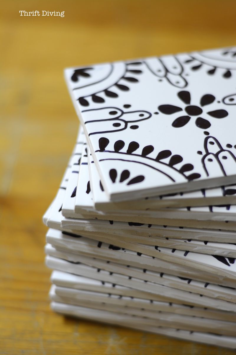 How To Tile A Table Top With Your Own Ceramic Tiles Recycle And