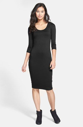 Soprano Three Quarter Sleeve Body-Con Dress (Juniors) available at #Nordstrom