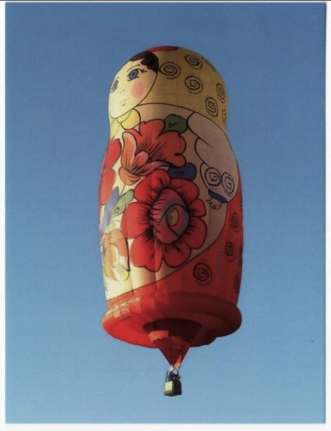 Hot air balloon and matryoshka - whats not to love?