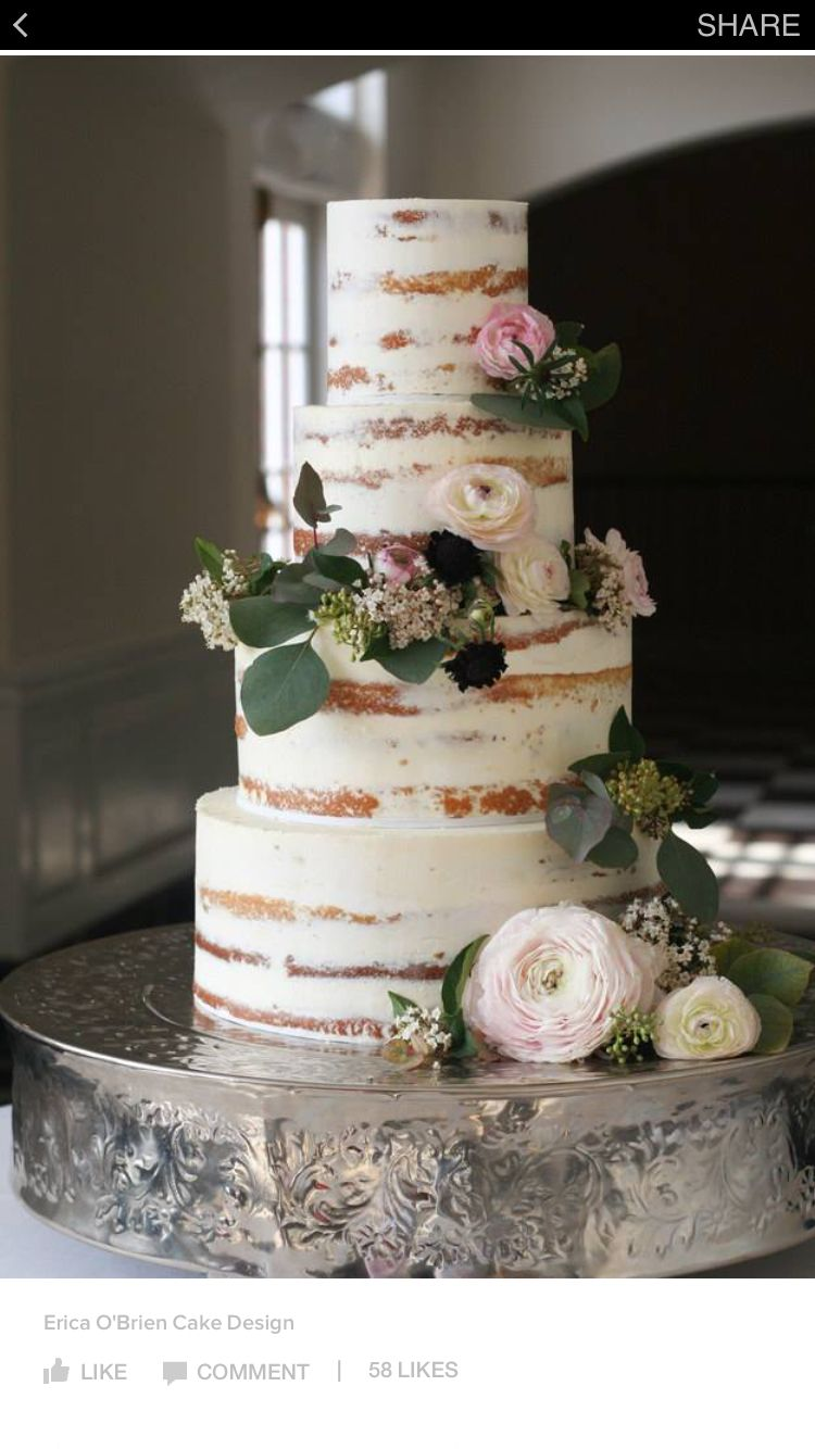 Totally cool looking cake for a rustic wedding looks like birch