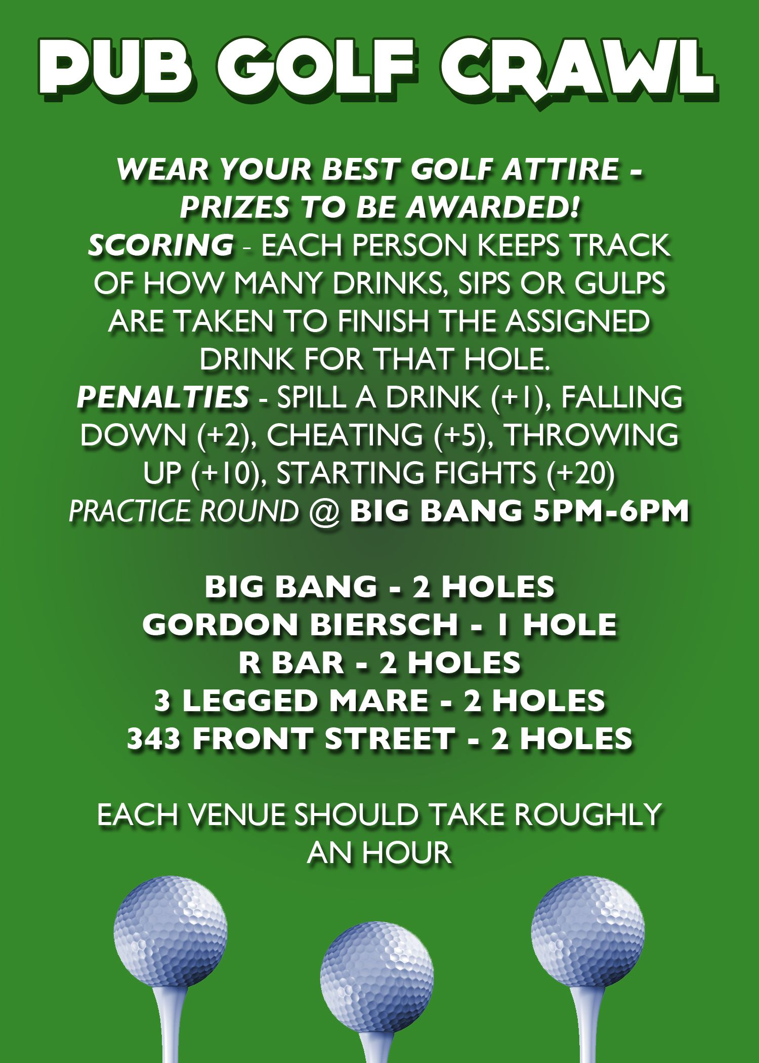 Pub Golf Back - Hotcard3 … | ΩΣ & ΛΣ…