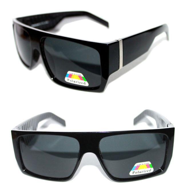 Volumen groß unglaubliche Preise sehr bekannt KUSH Men's Sunglasses Flat Top Square Frame Black Dark Lens ...