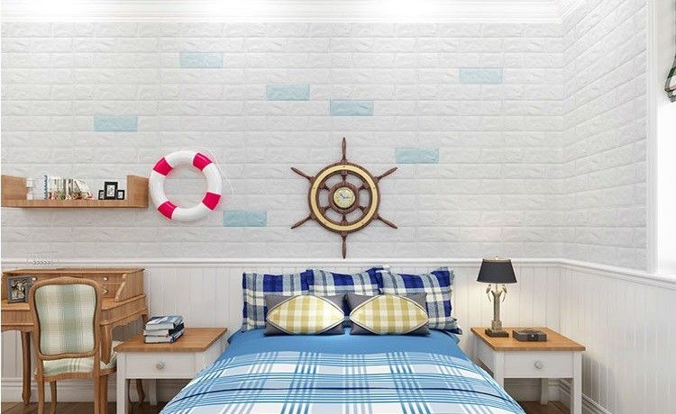 Pe Foam 3d Wallpaper Diy Wall Stickers Wall Decor Embossed Brick Stone Brick Pattern 3d Textu Diy Wall Decor For Bedroom Wall Decor Bedroom Wall Decor Stickers
