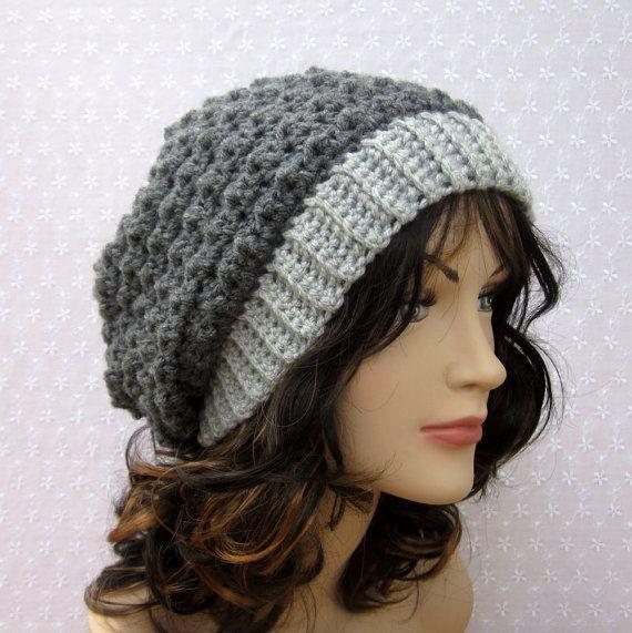 crochet slouchy beanie pattern | Slouchy Crochet Beanie | Proyectos ...