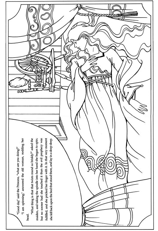 Sleeping Beauty colouring page | Fairy Tales ~ Fractured Tales ...
