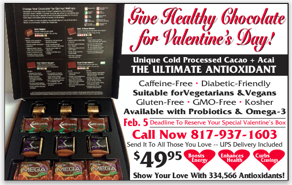 Give the Gift of Healthy Chocolate for Valentines Day.