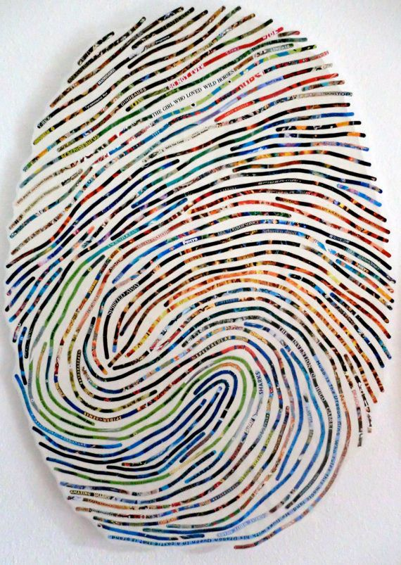 "Love these - thumbprint ""portraits"""