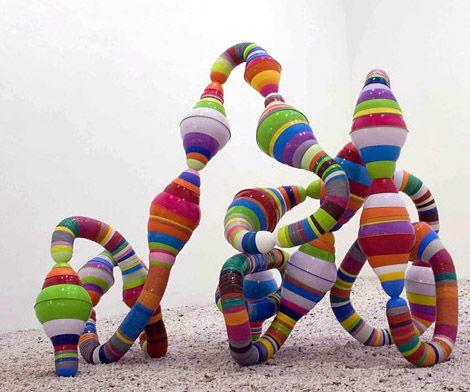 Modern art from waste