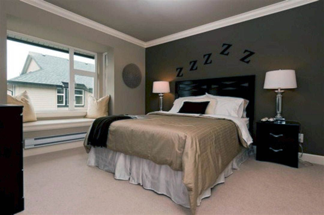 Graceful Wall Paint Ideas For Home Office That Look Beautiful Light Brown Bedrooms Bedroom Paint Colors Master Brown Bedroom