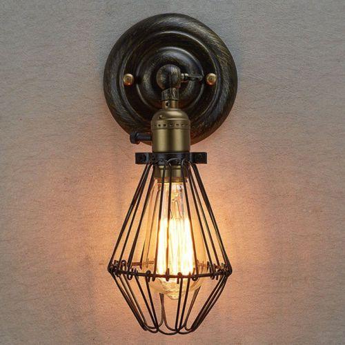 Lampe Mur Fer Applique Murale Lampe Lumiere Wall Light