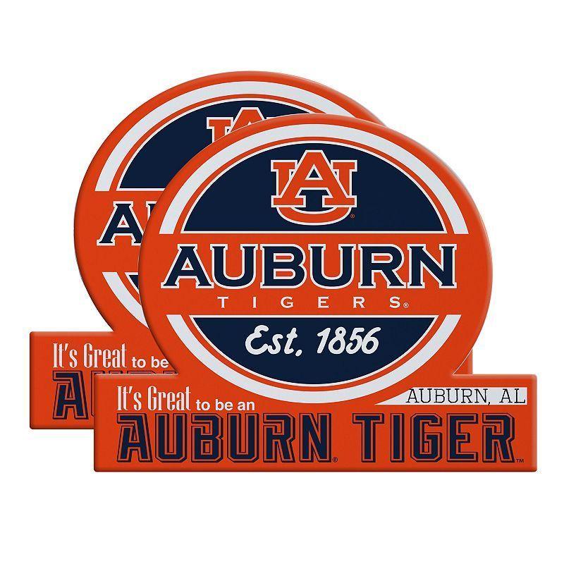Auburn Tigers Jumbo Tailgate Magnet 2-Pack, Multicolor