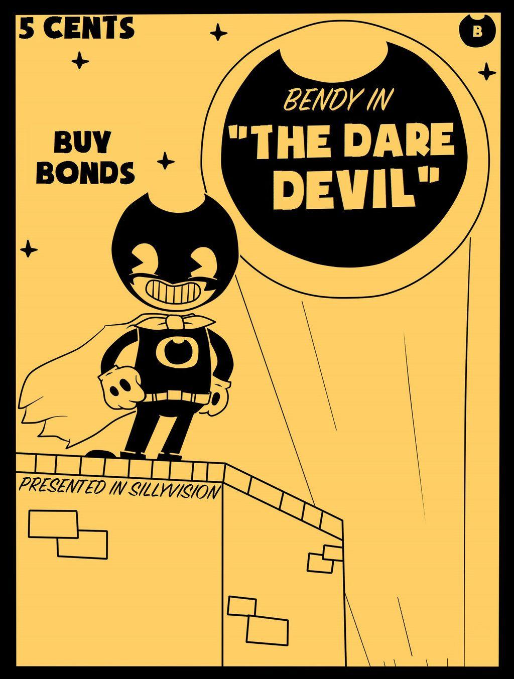 Бенди и чернильная машина постер игры