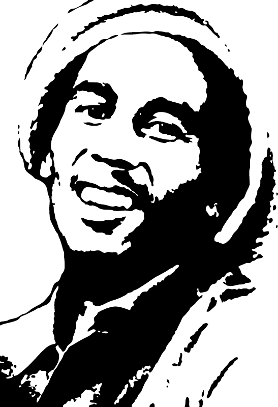 bob marley silhouette painting andrew braswell pictures picture rh pinterest com bob marley clip art free Bob Marley Cartoon