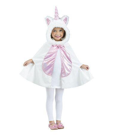 Look At This Zulilyfind White Unicorn Cape Dress Up Set Toddler