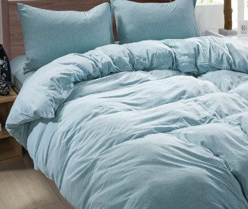 Shire Blue Linen Duvet Cover By Customlinenshandmade