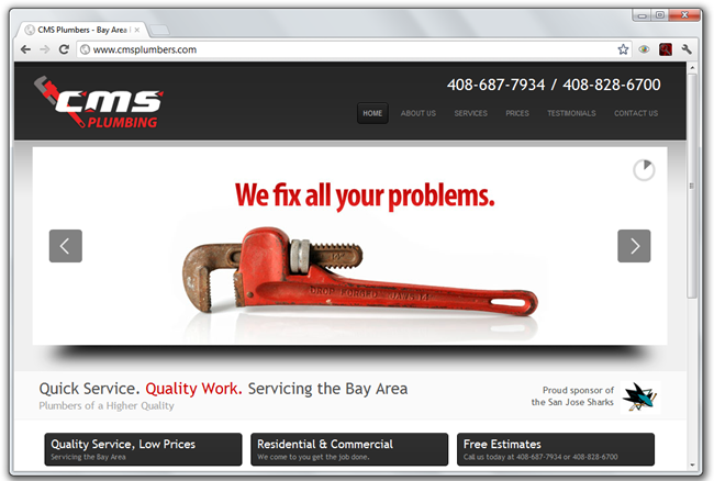 Excellent Examples of Plumbing Website Design | webdesign