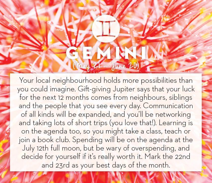 Get your horoscope for the month of July. #Gemini