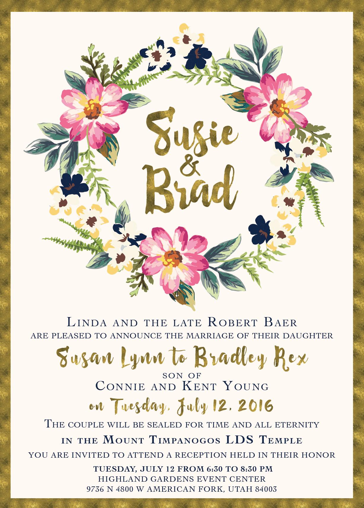 The Invitation Maker offers high quality, custom wedding invitations ...