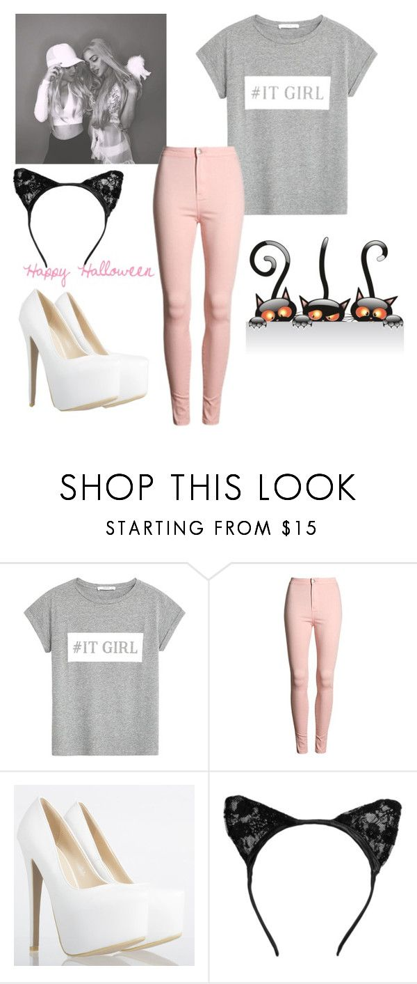 """""""Happy Be-layed Halloween read d"""" by ghkbarbie ❤ liked on Polyvore featuring MANGO"""