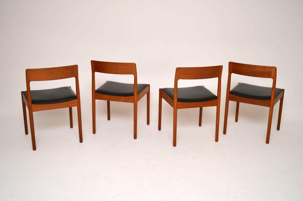 Set 4 Danish Teak Dining Chairs Vintage 1960s 104114 Jpg 1000 665 Teak Dining Chairs Dining Chairs Chair