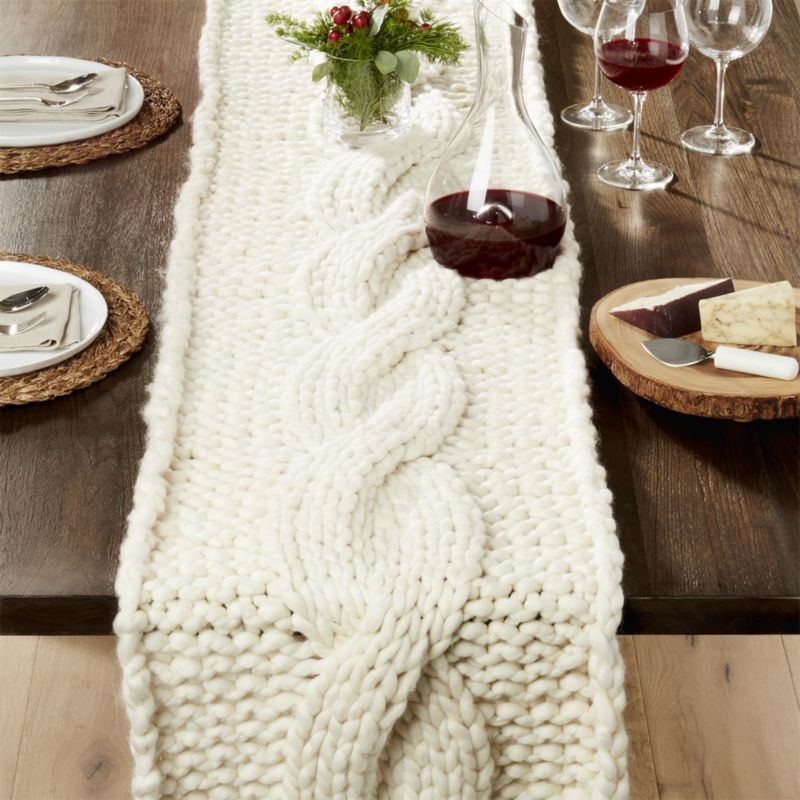 Christmas Large Table Runner with coasters Winter Themed