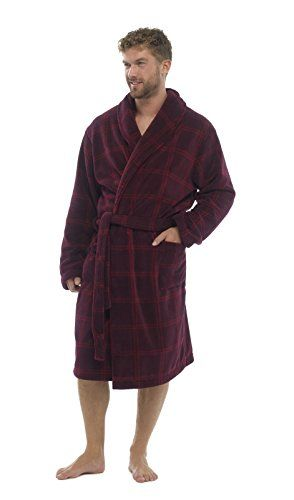 LUXURY MENS GENTS FULL LENGTH VELOUR FLEECE ROBE DRESSING GOWN HOUSECOAT  ROBES + BELT SIZE S- XL  Amazon.co.uk  Clothing 6fb9c3da7