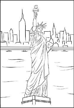 Malvorlage Von Miss Liberty In New York Malvorlagen