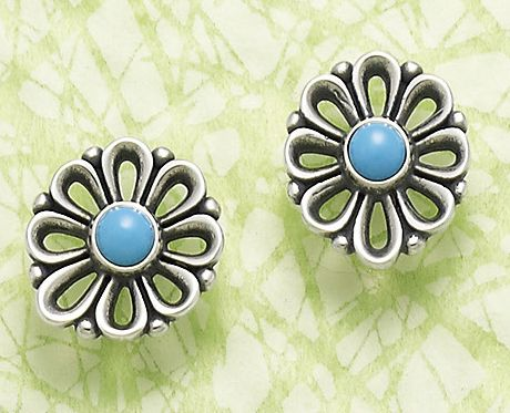 4110e7ad7 De Flores Ear Posts With Turquoise #JamesAvery | Jewelry | James ...