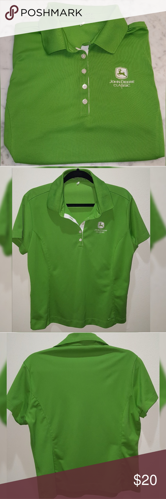 816959f4 John Deere Classic Nike Dry Fit XLarge Polo shirt John Deere Classic Nike  Dry Fit XL Polo shirt X-Large (16/18) This shirt is fitted. Good used  condition.