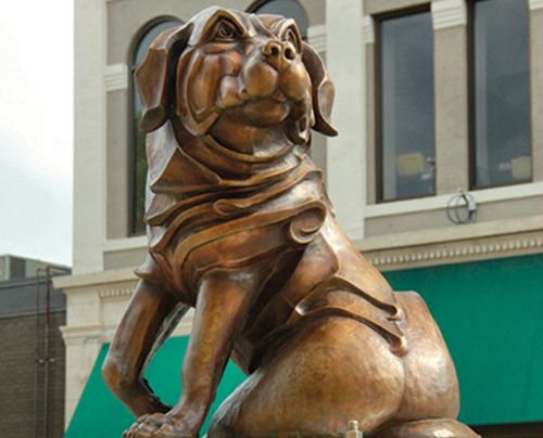 25. Chelsea  |  POKEY PARK   •   ARIZONA  |  Bronze  |  Chelsea–her attention is being drawn to something she sees–to the next adventure. It is a portrait of my son's dog.  |  Sell Price: $14,500