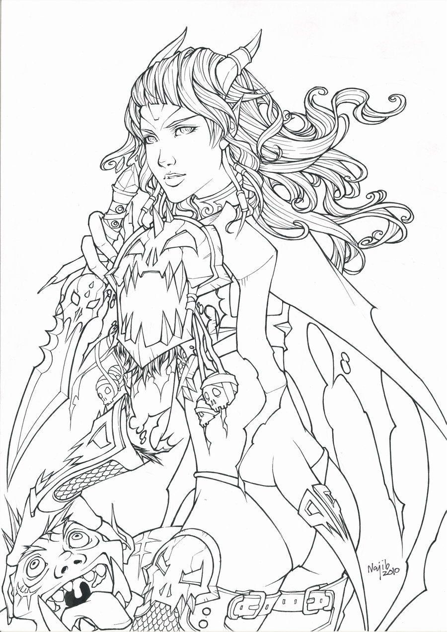 Coloring book pictures of elves - Get Draenei World Of Warcraft Coloring Pages