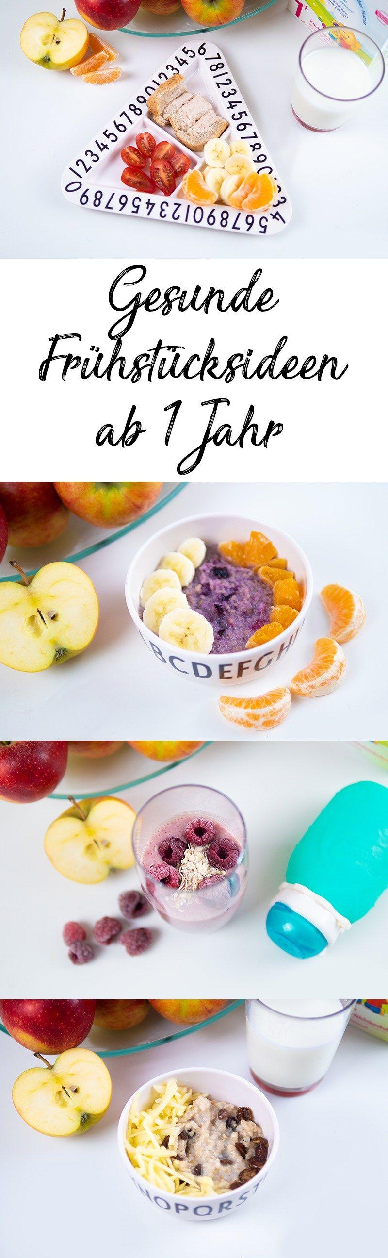 Frühstücksideen für Kleinkinder - gesundes Frühstück ab 1 Jahr #gezondeten