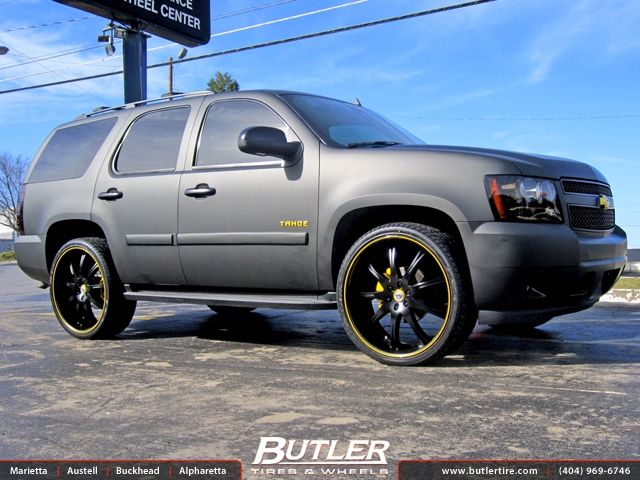 Want Custom Flat Black Chevy Tahoe With 26in Lexani Lx 9 Wheels
