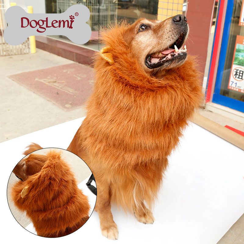 10pcs per pack large pet dog cat lion wigs mane hair festival party fancy dog costume