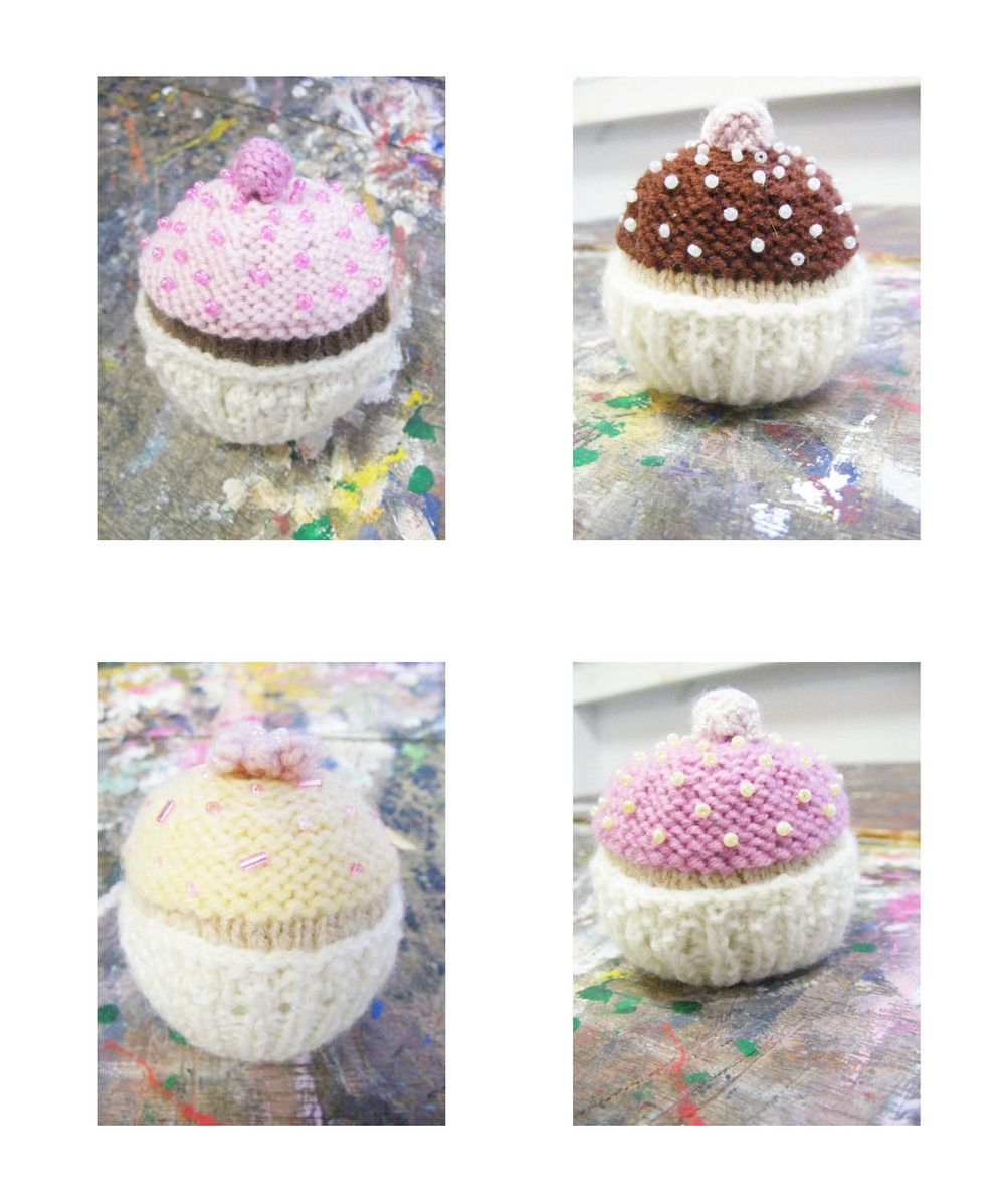 Free knitting pattern cupcake crochet food pinterest knit free knitting pattern cupcake bankloansurffo Image collections
