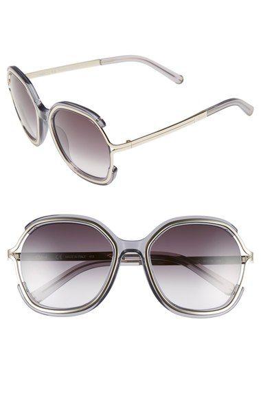 CHLOÉ 'Jayme' 54Mm Square Sunglasses. #chloé #