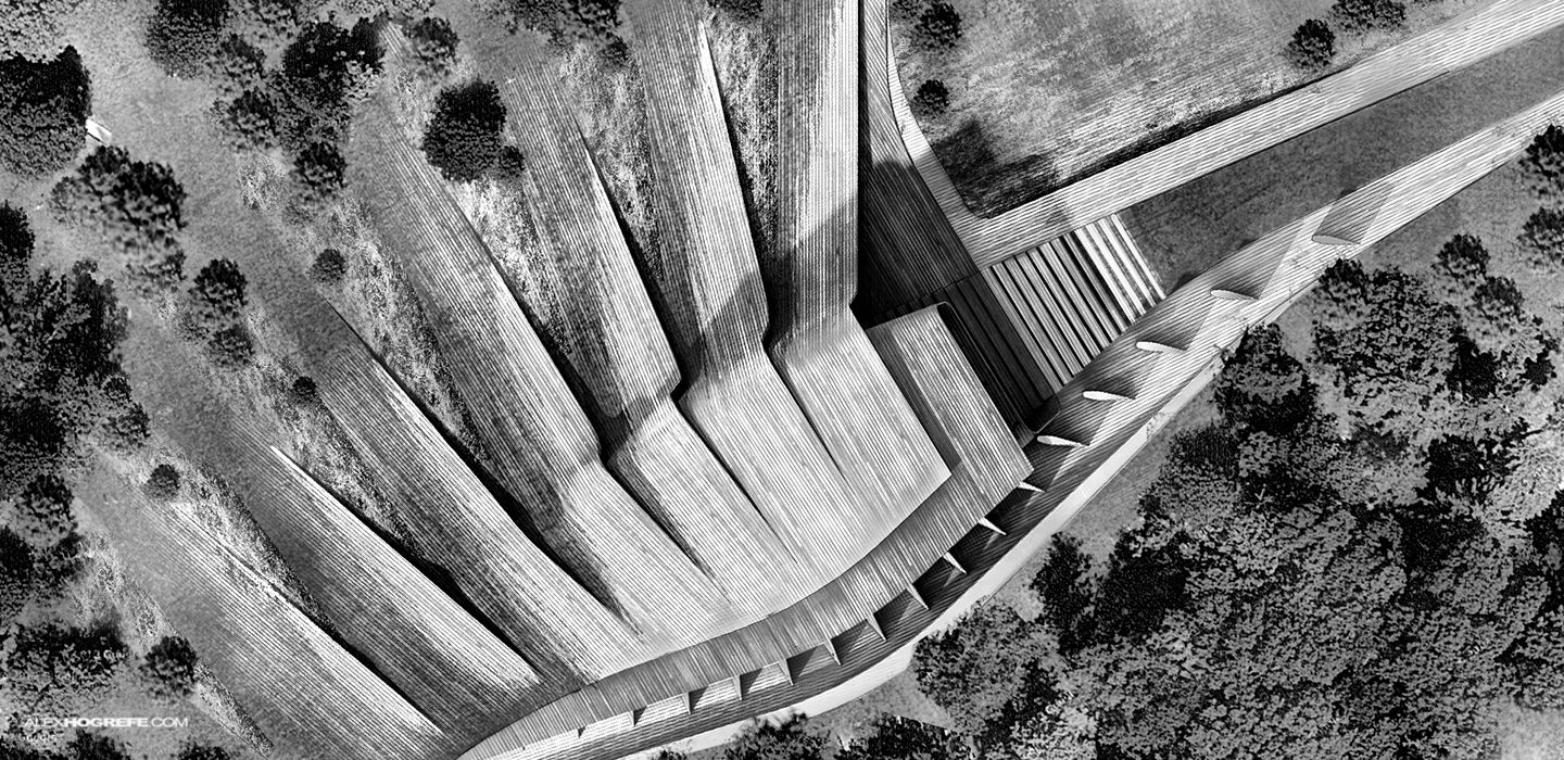 Miami Theater Aerial Visualizing Architecture Concepts And