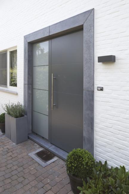 Aluminium Voordeur Te Mechelen Ral 7012 Voordeur