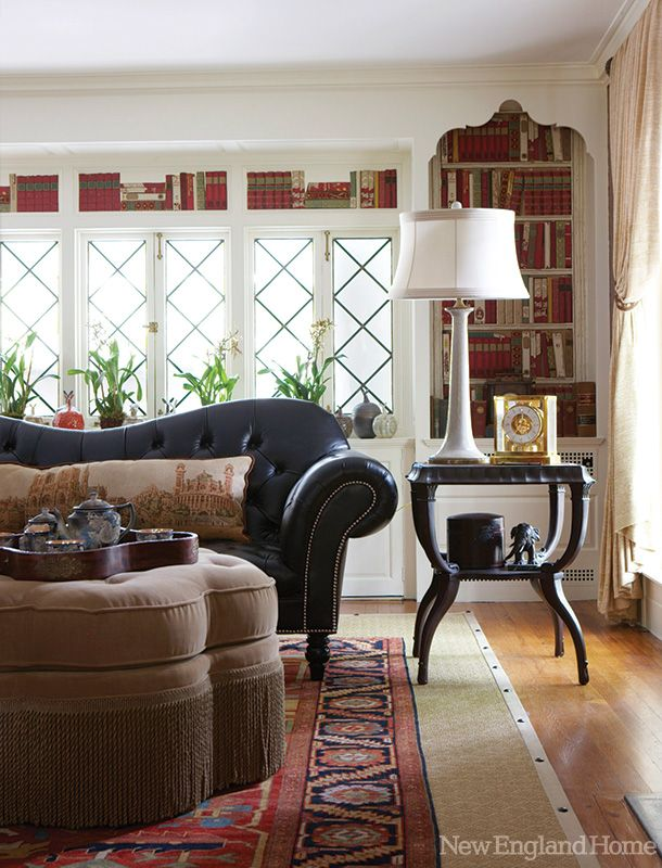 In Richard Ottu0027s Stylish Yet Relaxed Living Room, Layers Of Textureu2014an  Oriental Rug Atop Sisal, For Exampleu2014and Rich Red Tones Create A Warm Space.