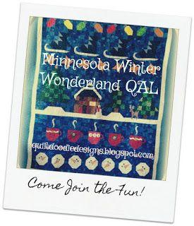 Quilt Doodle Doodles Minnesota Winter Wonderland Along