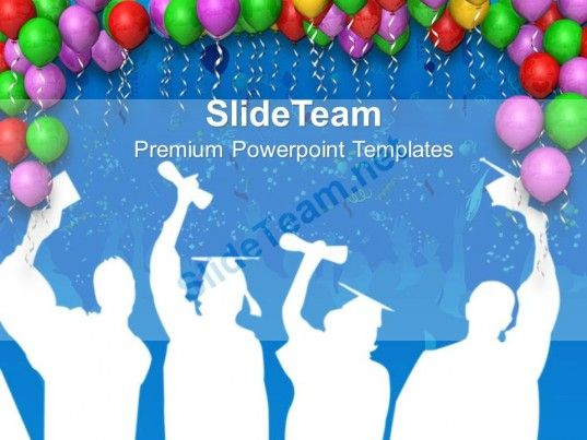 0413 decoration with balloons party theme powerpoint templates ppt, Modern powerpoint